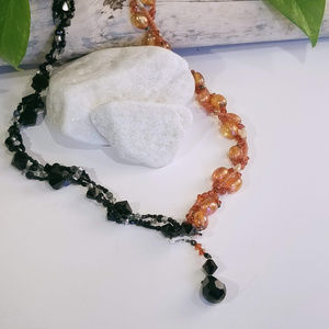 Jewelry - Two Color Crystal and Bead necklace